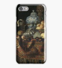 Francesco Fieravino - Still Life With Fruit, Plates And Dishes On A Turkey Carpet iPhone Case/Skin