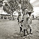 'Three kids and a camera', Northern Rwanda. by Melinda Kerr