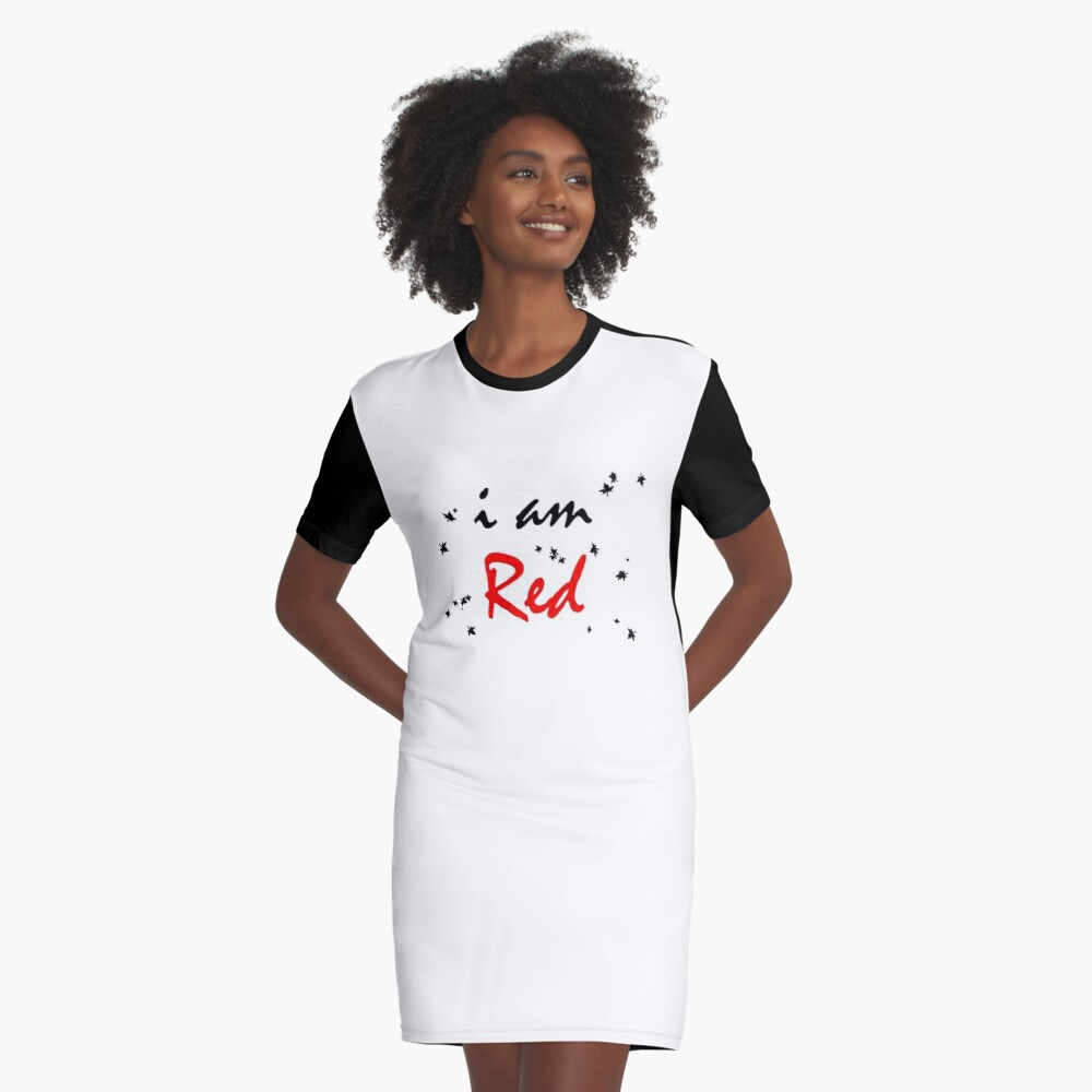 LETTERING Graphic T-Shirt Dress Front