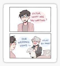"YOI: ""WEDDING VOWS"" Sticker"