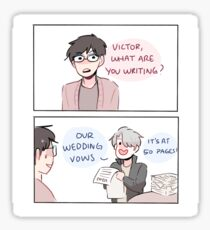 "YOI: ""WEDDING VOWS"" Sticker"