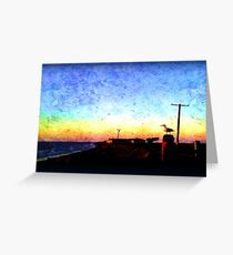 Seagull at the Bay in Oil Greeting Card