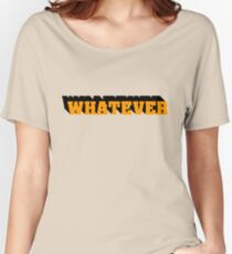 Whatever I Dont Care Teenager Gift Birthday Punk Rock Rebel Women's Relaxed Fit T-Shirt