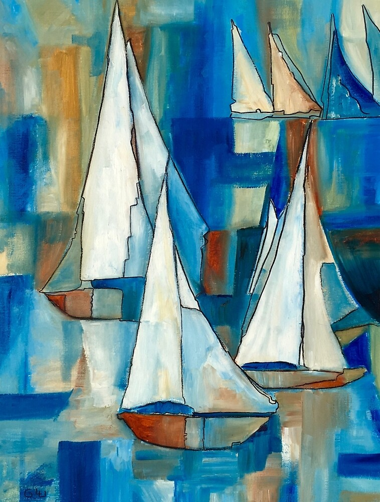 Sailing Boats by Giselle Luske