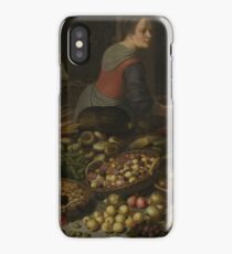 Floris Claesz. Van Dijck - Still Life With Fruit And Vegetables, With Christ At Emmaus In The Background iPhone Case/Skin