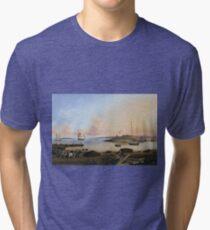 Fitz Henry Lane - The Fort And Ten Pound Island, Gloucester, Massachusetts Tri-blend T-Shirt