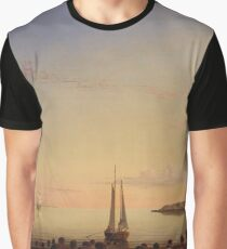 Fitz Henry Lane - Stage Fort Across Gloucester Harbor Graphic T-Shirt