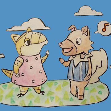 Pokemon Crossing - Rockruff and Sandshrew by Alan2903