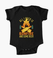 Bonfire And Beer One Piece - Short Sleeve