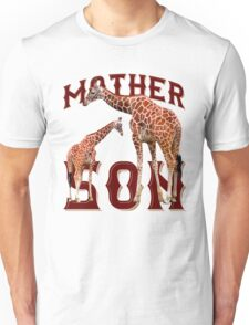 Mother and son giraffe Unisex T-Shirt