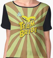 Team Bride pop art  Chiffon Top