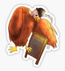 Polly Plays a  Washboard Sticker