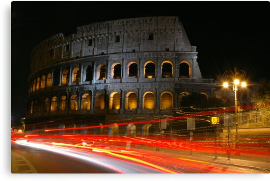 Colosseum at Night by 945ontwerp