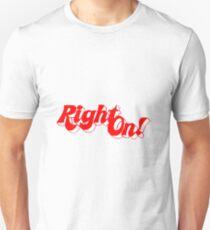 """""""RIGHT ON!"""" MAGAZINE Unisex T-Shirt"""