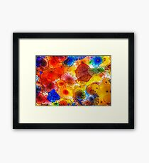Chihuly glass patterns Framed Print