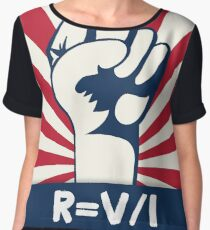 Scientists March on Washington Ohm's Law of Resistance Women's Chiffon Top