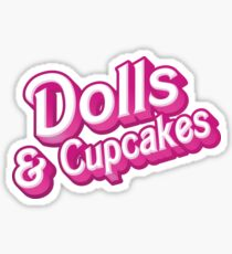 Dolls and cupcakes Sticker