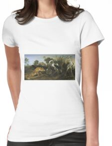Frans Snyders - Fable Of The Fox And The Heron Womens Fitted T-Shirt