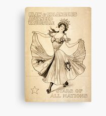 Advanced Vaudeville - 1907 Canvas Print