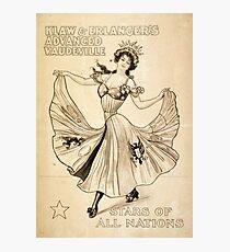 Advanced Vaudeville - 1907 Photographic Print
