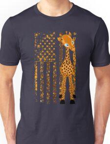 american flag Giraffe shirt Unisex T-Shirt
