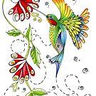"""""""Flitter Away"""" by Winterberry  Farm Studio"""