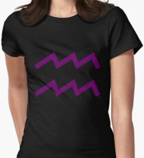 Aquarius Sign Women's Fitted T-Shirt