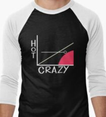 Crazy vs. Hot Men's Baseball ¾ T-Shirt