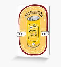 Grafton Bitter - white Greeting Card
