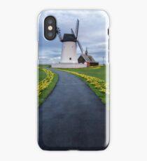 Lytham Windmill Daffodils iPhone Case/Skin