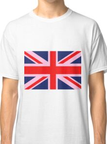 A Pink Union Jack of the United Kingdom Classic T-Shirt