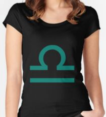 Libra Sign Women's Fitted Scoop T-Shirt