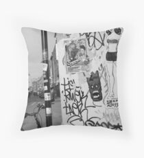 E1 CORNER Throw Pillow