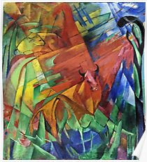 Franz Marc - Animals In A Landscape  Poster