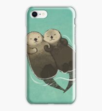 Significant Otters - Otters Holding Hands iPhone Case/Skin