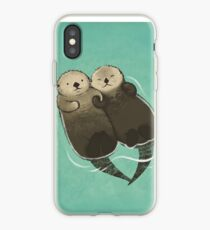 Significant Otters - Otters Holding Hands iPhone Case