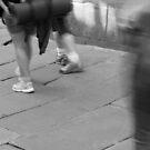 Walkers arrive in Santiago de Compostela by Richard McCaig