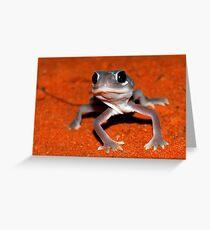 Smooth knob-tailed gecko Greeting Card