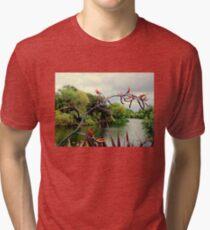 Landscape | The River | Dublin, Ireland Tri-blend T-Shirt