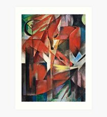 Franz Marc - The Foxes (1913) Art Print