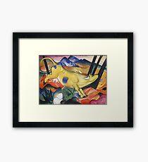 Franz Marc - Yellow Cow  Framed Print