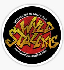 Bill & Ted - Wild Stallyns Band Patch Sticker