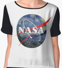 NASA starry night Chiffon Top