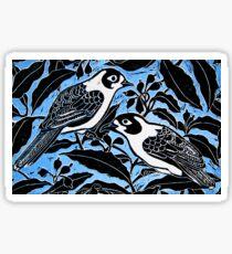 blue birds Sticker