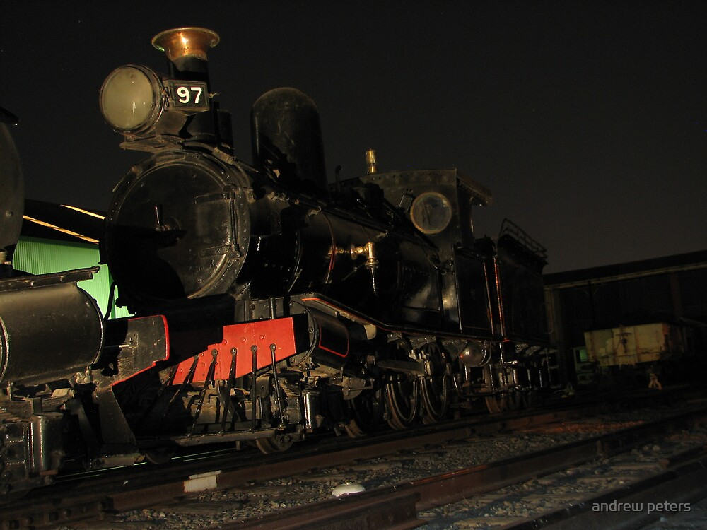 y class loco at night  by andrew peters