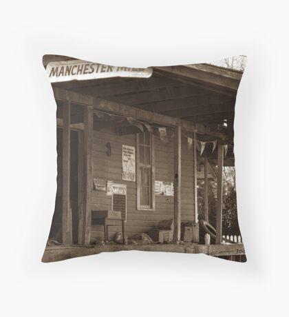 Manchester Feedmill Throw Pillow