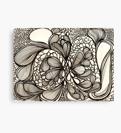 Blace Lines and Bubbles Canvas Print