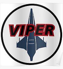 Battlestar Galactica Viper Logo Poster
