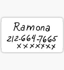Scott Pilgrim - Ramona Flowers Phone Number Sticker