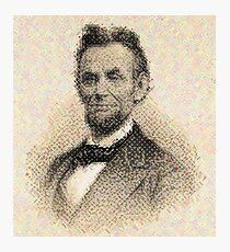 After Chuck Close - Portrait - Abraham Lincoln (Close - Up) Photographic Print
